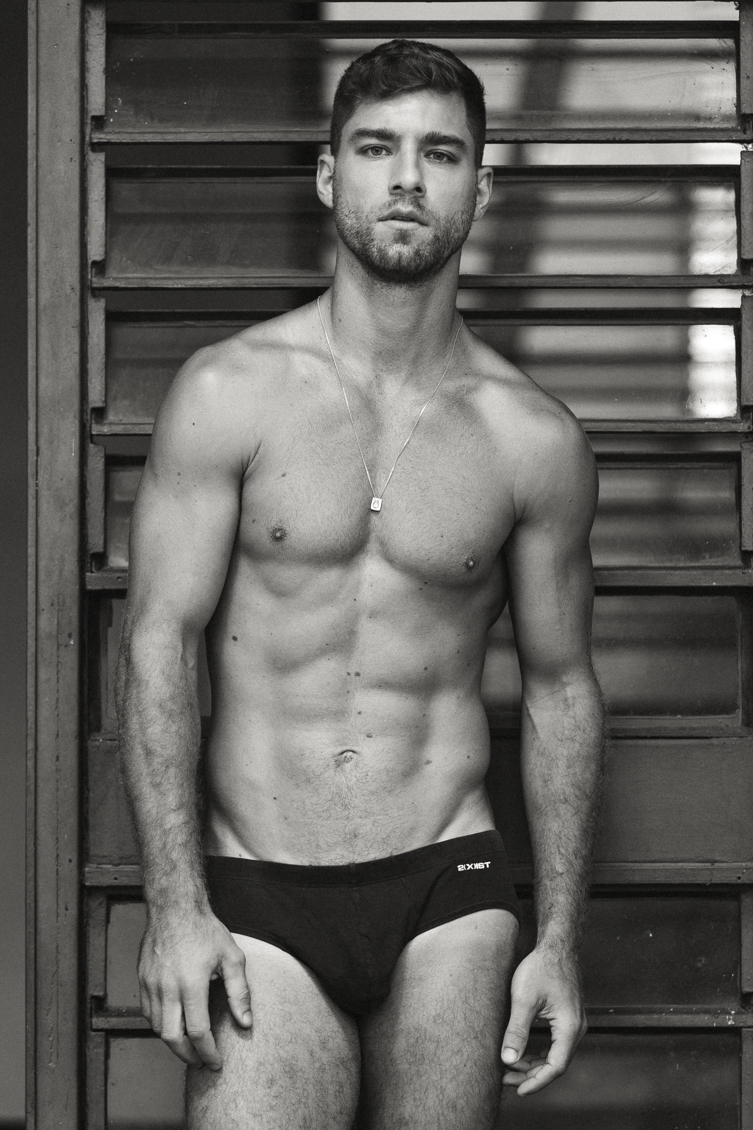 André Ziehe in a bikini for the new issue of Victor Magazine shots by Jeff Segenreich. The exclusive digital release can be found on www.victormagazinemen.com
