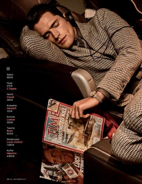 """GQ Germany September 2017: Sean O'Pry & Ollie Edwards by Giampaolo Sgura """"Business Class""""10"""
