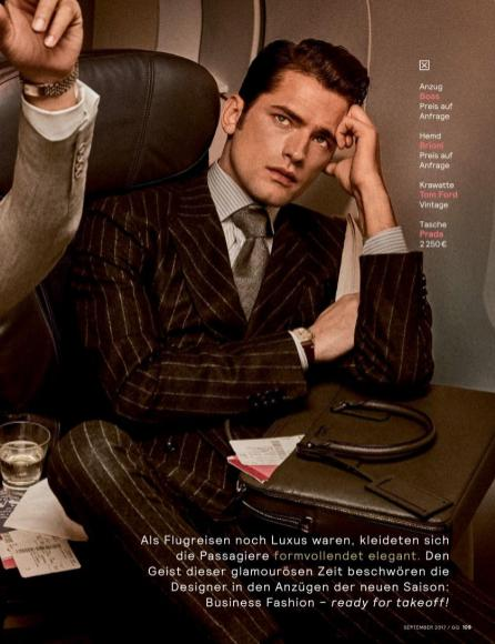 "GQ Germany September 2017: Sean O'Pry & Ollie Edwards by Giampaolo Sgura ""Business Class""2"