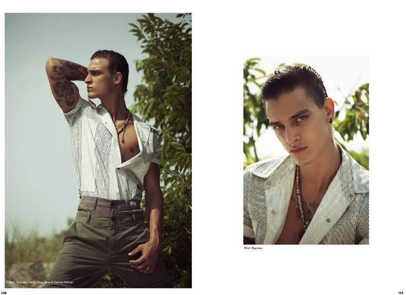 Jonathan Bellini on the cover Mandrawn Magazine  September 20177