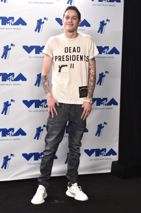 Pete Davidson attends the 2017 MTV Video Music Awards at The Forum on August 27, 2017 in Inglewood, California.