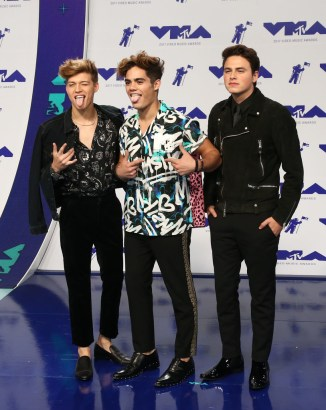 Pop band Forever in Your Mind attends the 2017 MTV Video Music Awards at The Forum on August 27, 2017 in Inglewood, California.