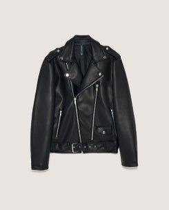 Faux leather biker jacket by ZARA $101.19 USD