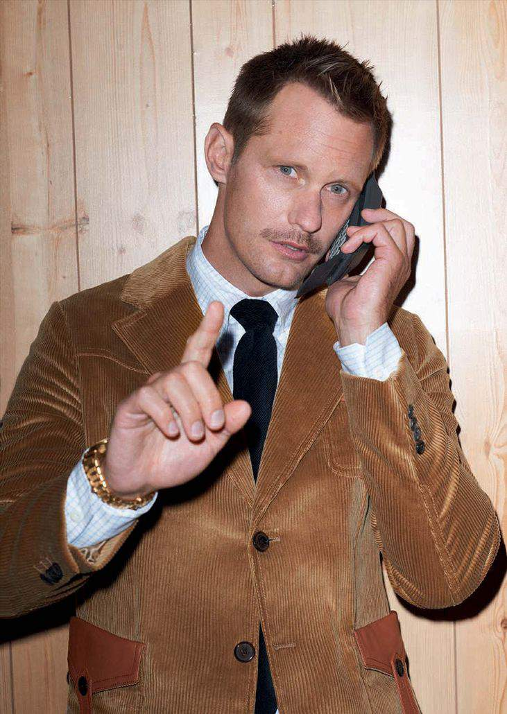 Alexander Skarsgård by Terry Richardson for GQ Style Germany AW178