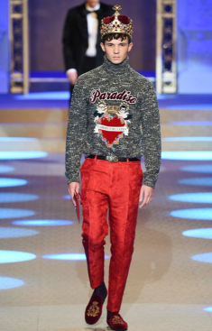 DOLCE & GABBANA MENSWEAR FALL WINTER 2018 MILAN95
