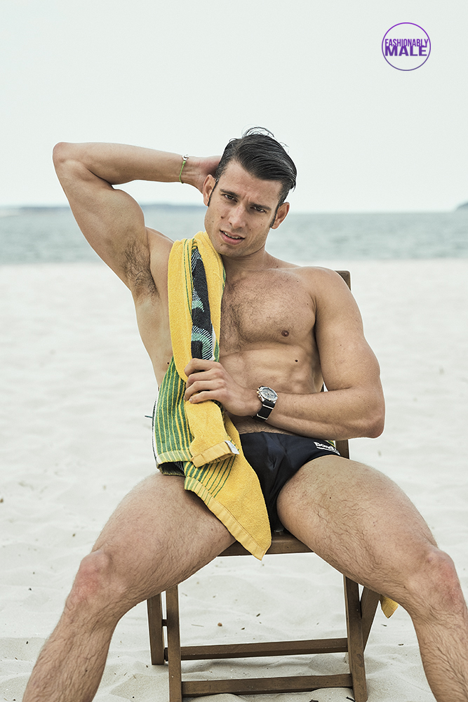 Triathlete to Model Anthony Moisset can compete with Alan Tan Pics