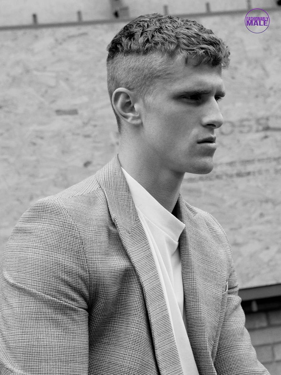 Currently in London model Matt van de Sande is portrayed by photographer Markus Lambert.