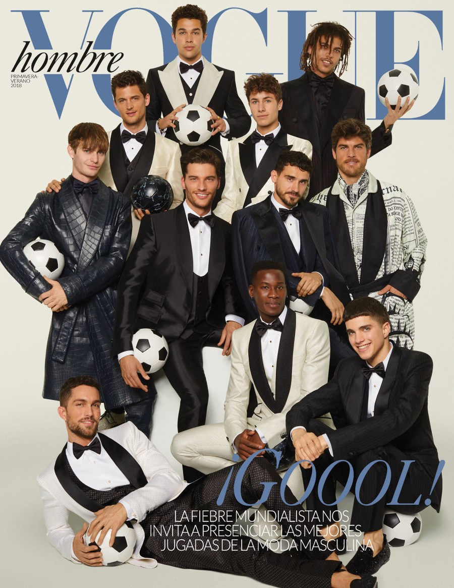 The Game Begins 2018 FIFA Wold Cup hits on Vogue Hombre S/S 2018