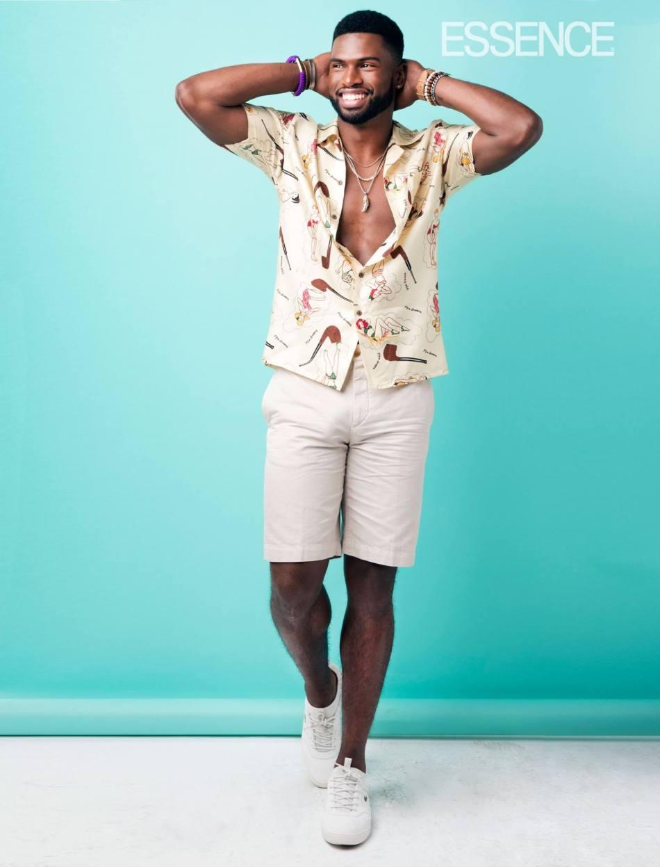 Model & Actor Broderick Hunter for Essence Magazine