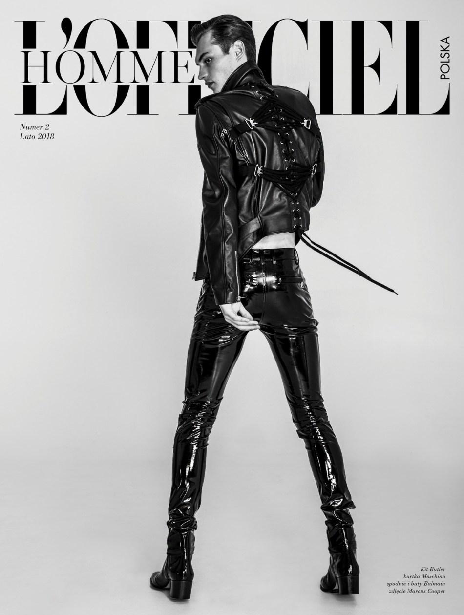 Supermodel Kit Butler by Marcus Cooper – L'Officiel Hommes Polska #2