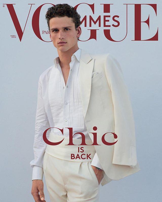 Top Model Simons Nessman for Vogue Hommes A/W 2018