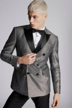 Silver Textured London Blazer