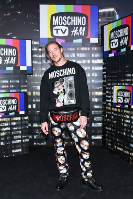 Diplo attends the Moschino x H&M runway at Pier 36 on October 24, 2018 in New York City.