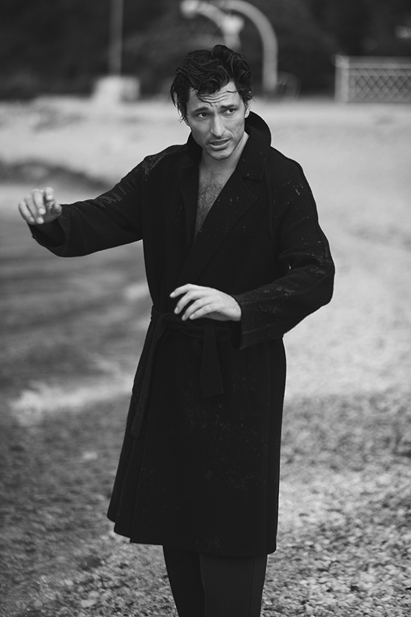 'Winter Blues' with Andres Velencoso for Wall Street Italia