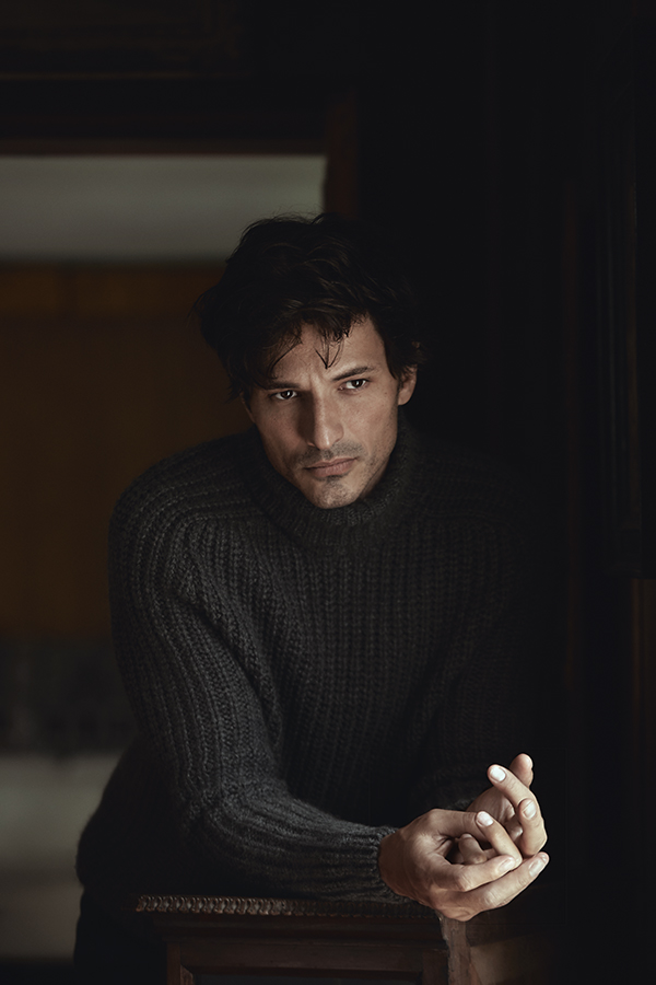 'Winter Blues' with Andres Velencoso for Wall Street Italia