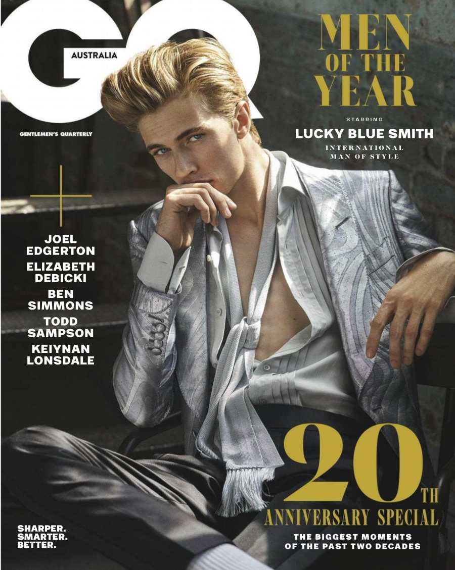 GQ Australia December 2018 Lucky Blue Smith by Carter Smith
