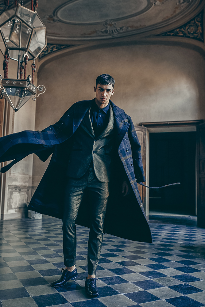 Alessio Pozzi on the cover story of L'Officiel Hommes Poland