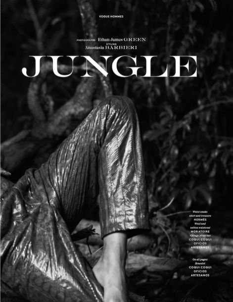 Jungle by Ethan James Green for Vogue Hommes Paris SS1912