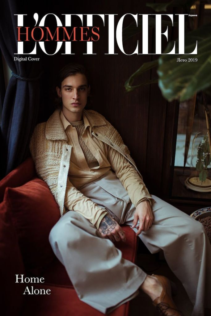 Jonathan Bellini covers L'Officiel Hommes Ukraine July 2019