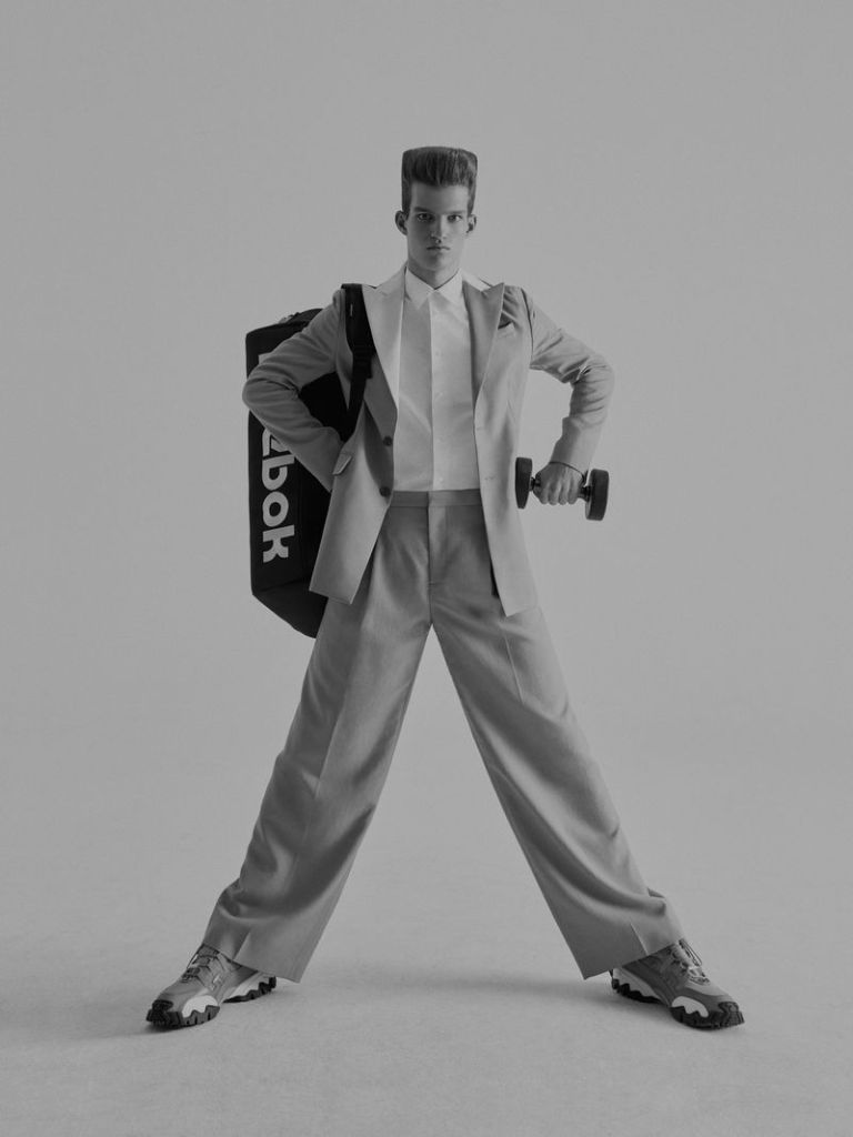 """""""Jim at Gym"""" work by Jumbo Tsui for WSJ Magazine"""