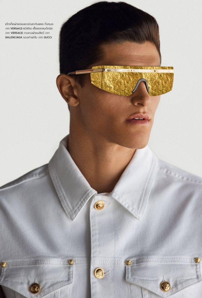 International Top Model Trevor Signorino models for lensman Blake Ballard for L'Officiel Hommes Thailand August 2019.