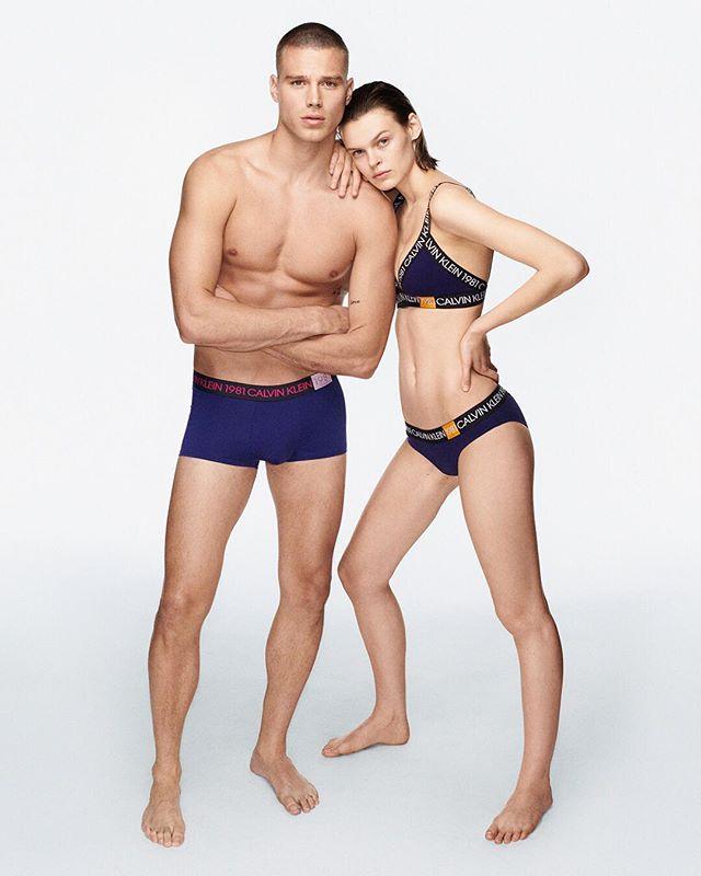 Matthew Noszka and Cara Taylor for Calvin Klein's New Campaign 1981 BOLD