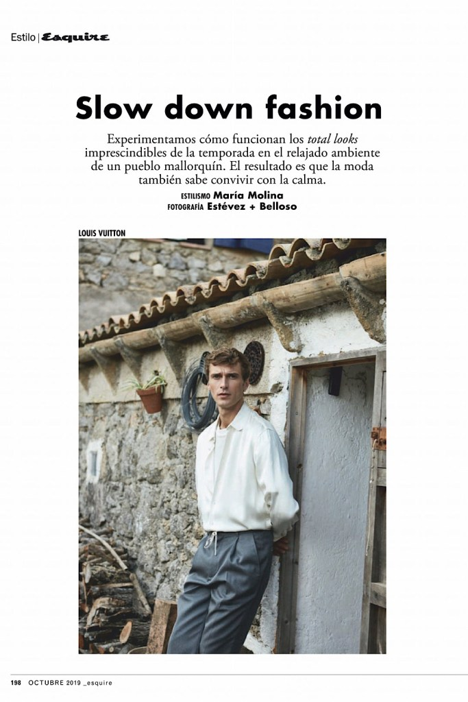 Clément Chabernaud for Esquire Spain October 2019