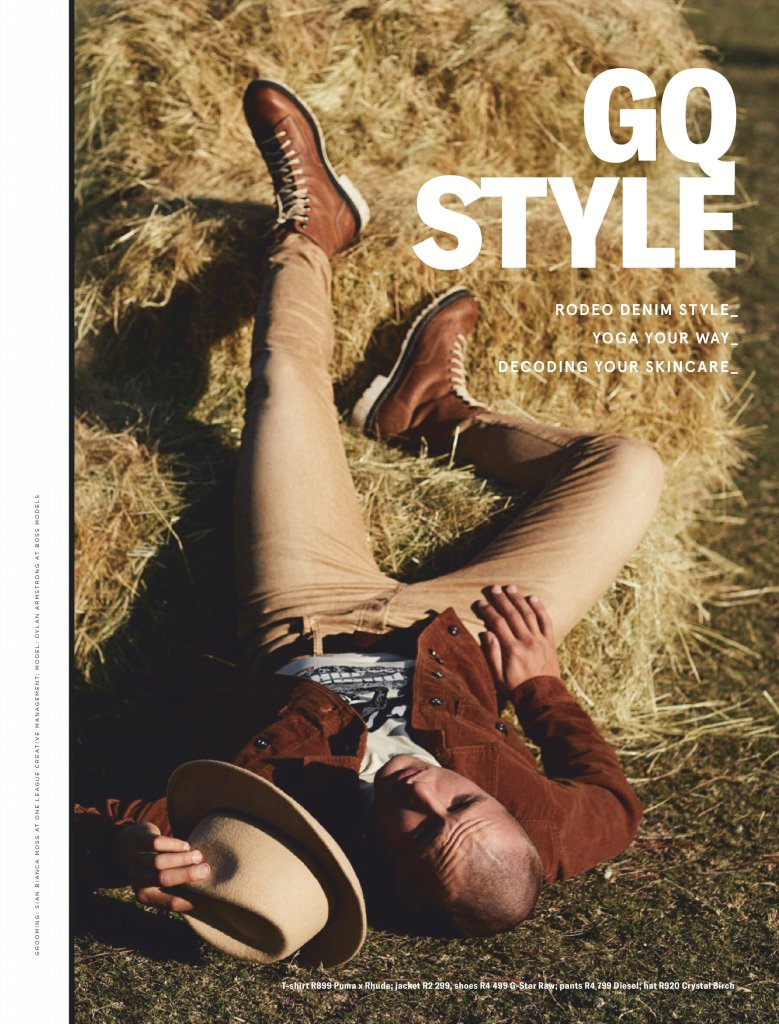Dylan Armstrong by Luke Kuisis for GQ South Africa September 2019