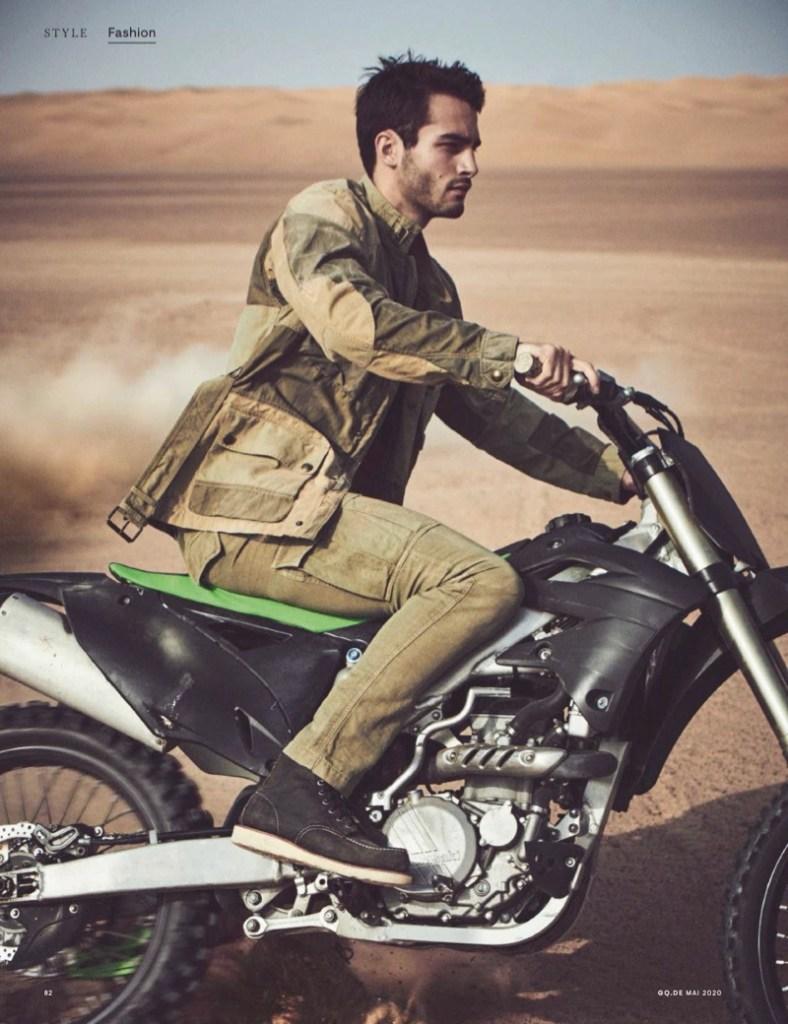 Model Aleksandar Rusic for GQ Germany May 2020