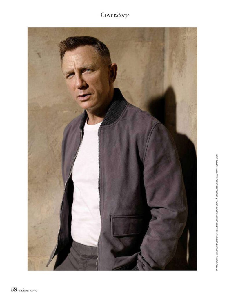 Actor Daniel Craig for Madame Figaro Men's Special September 2020.