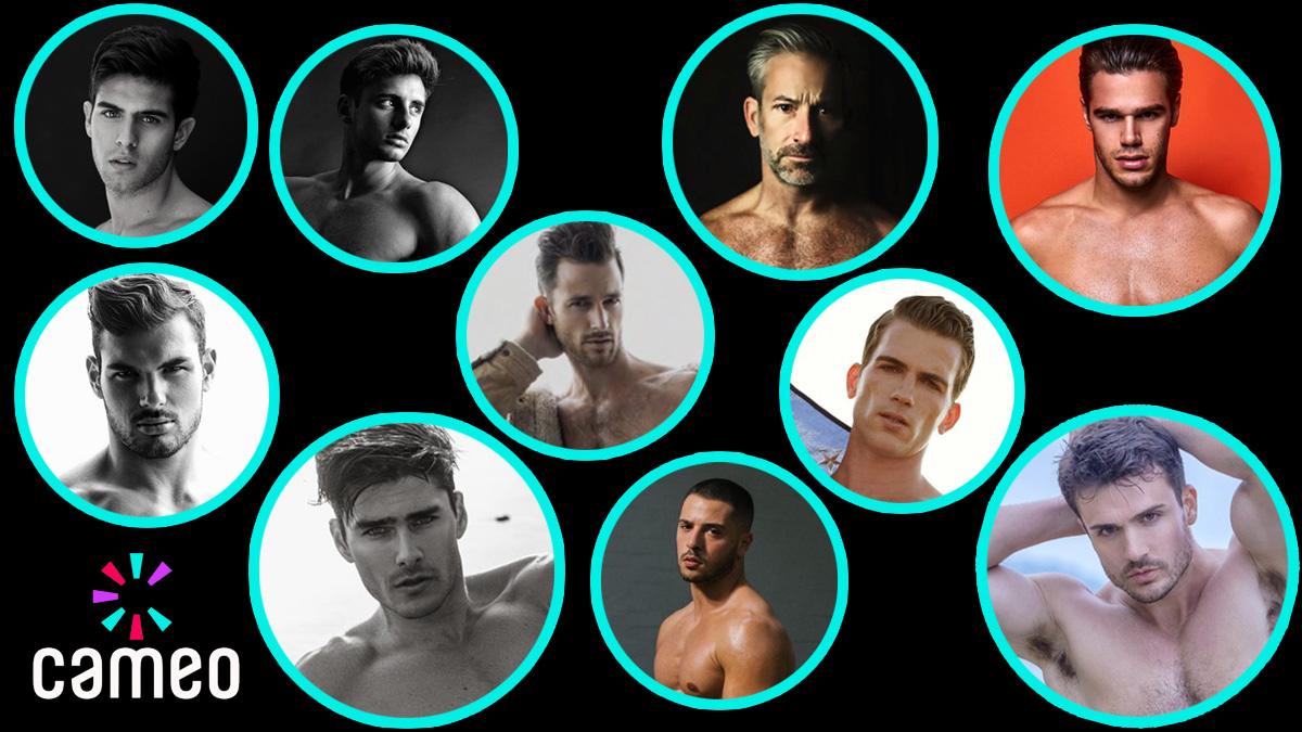 10 Male Models on Cameo.com by Fashionablymale cover