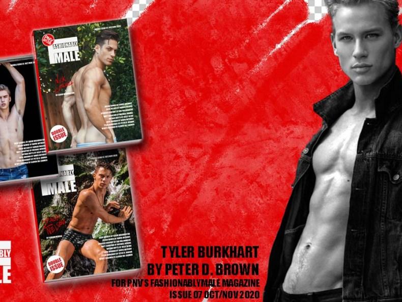 Tyler Burkhart for PnVFashionablymale Magazine Issue 07 cover
