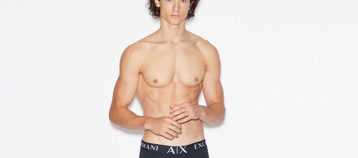 Sergio Stipa for Armani Exchange Underwear 2020 Catalogue cover