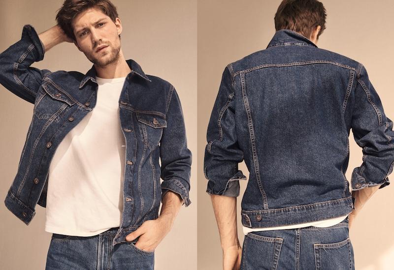 Dark-wash denim jacket