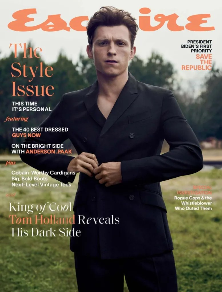 Tom Holland for US Esquire March 2021 Editorial