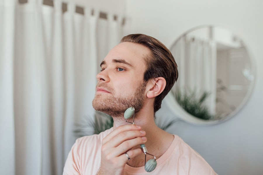 Crystal Facial Rollers for Men