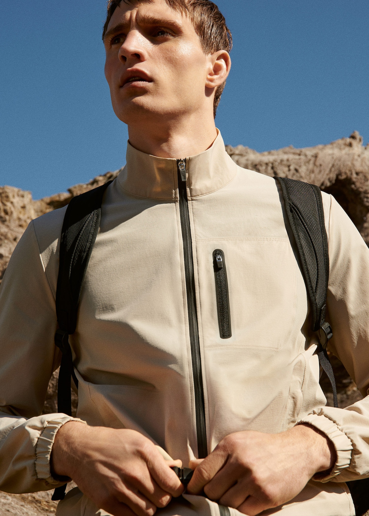 Technical fabric sports backpack