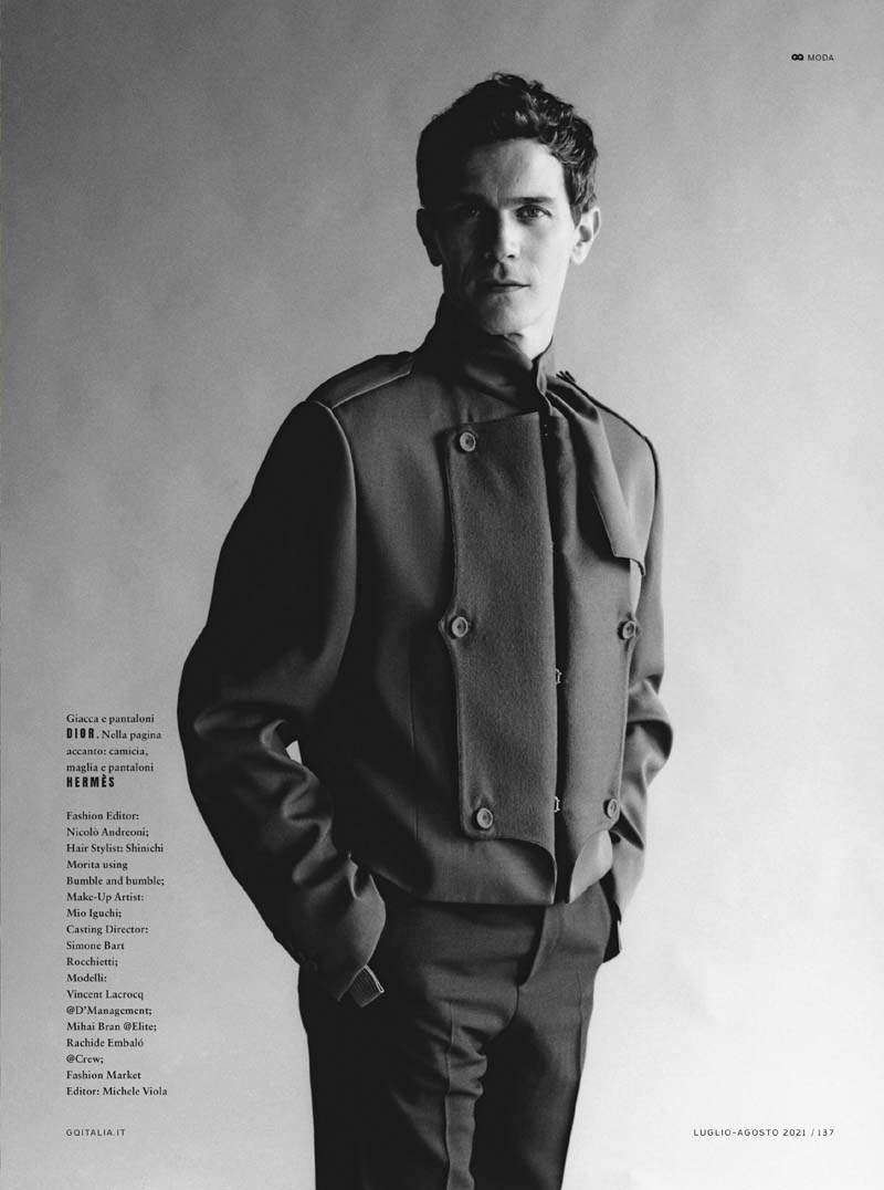 Contemporary Elegance by James Robjant for GQ Italia July:August 2021 Editorial