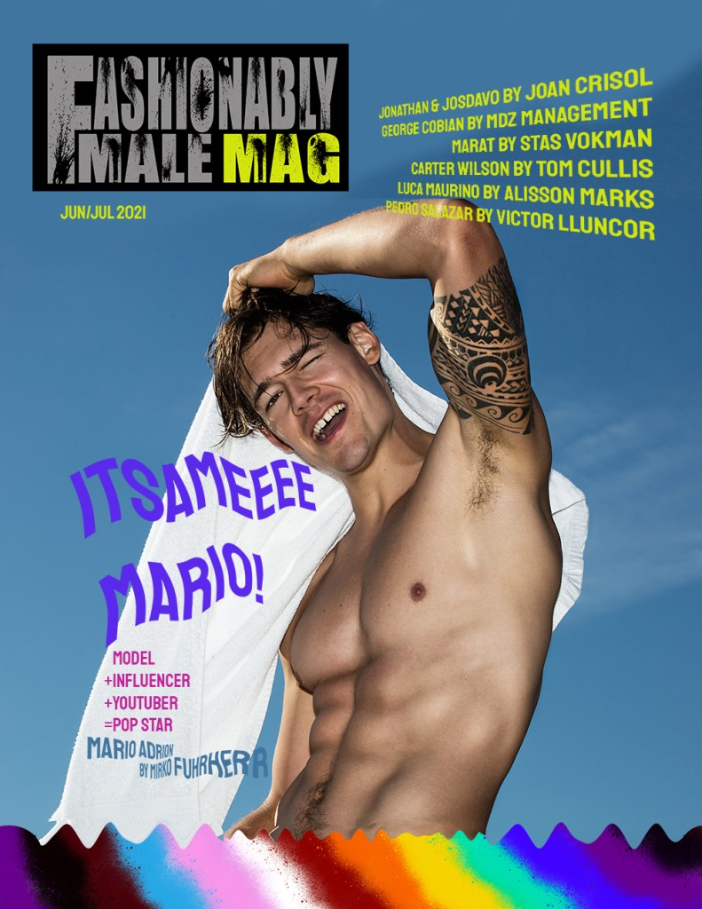 Mario Adrion for Fashionably Male Pride Edition 2021 cover
