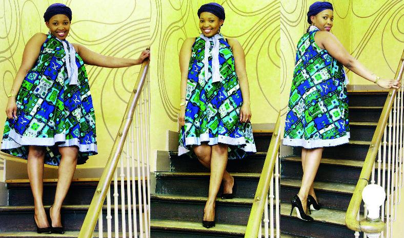jolie robe en pagne pour femme enceinte