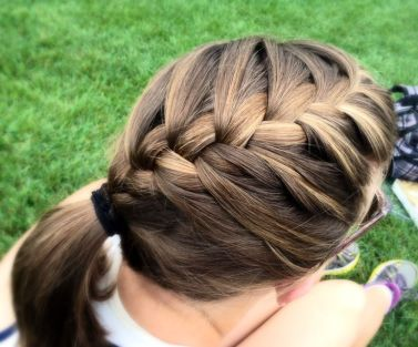 simple-french-braid-ponytail