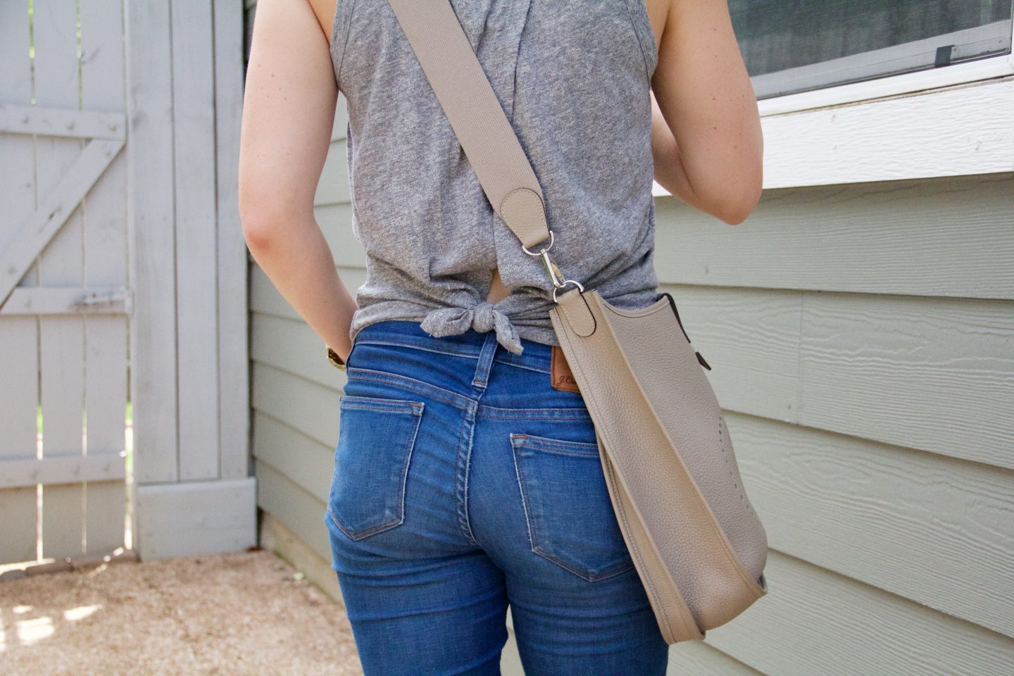 J.crew Knot-back Tank Top And How To Wear It. Wearing Tees