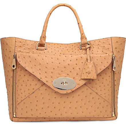The Willow Ostrich Leather Tote - fashionandstylepolice ... 9e6d2307b2d53