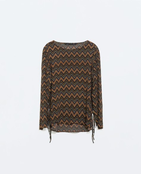 Zara Fringed Top