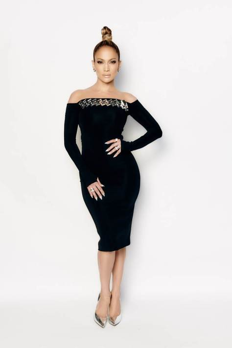 jennifer-lopez-american-idol-david-koma-black-embellished-off-the-shoulder-dress-casadei-silver-pumps