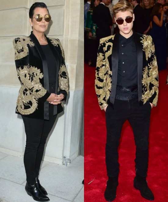 Kris-Jenner-Justin-Bieber-Balmain-jacket-2015