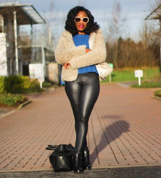 UK Tights Leather Leggings