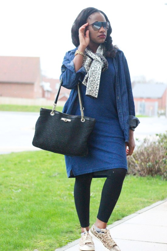Double Denim Outfit Image