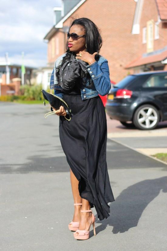 Denim Jacket and Dress Image