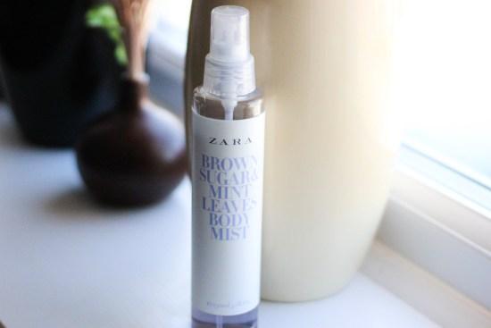 Zara Brown Sugar Mint Leave Body Mist Review